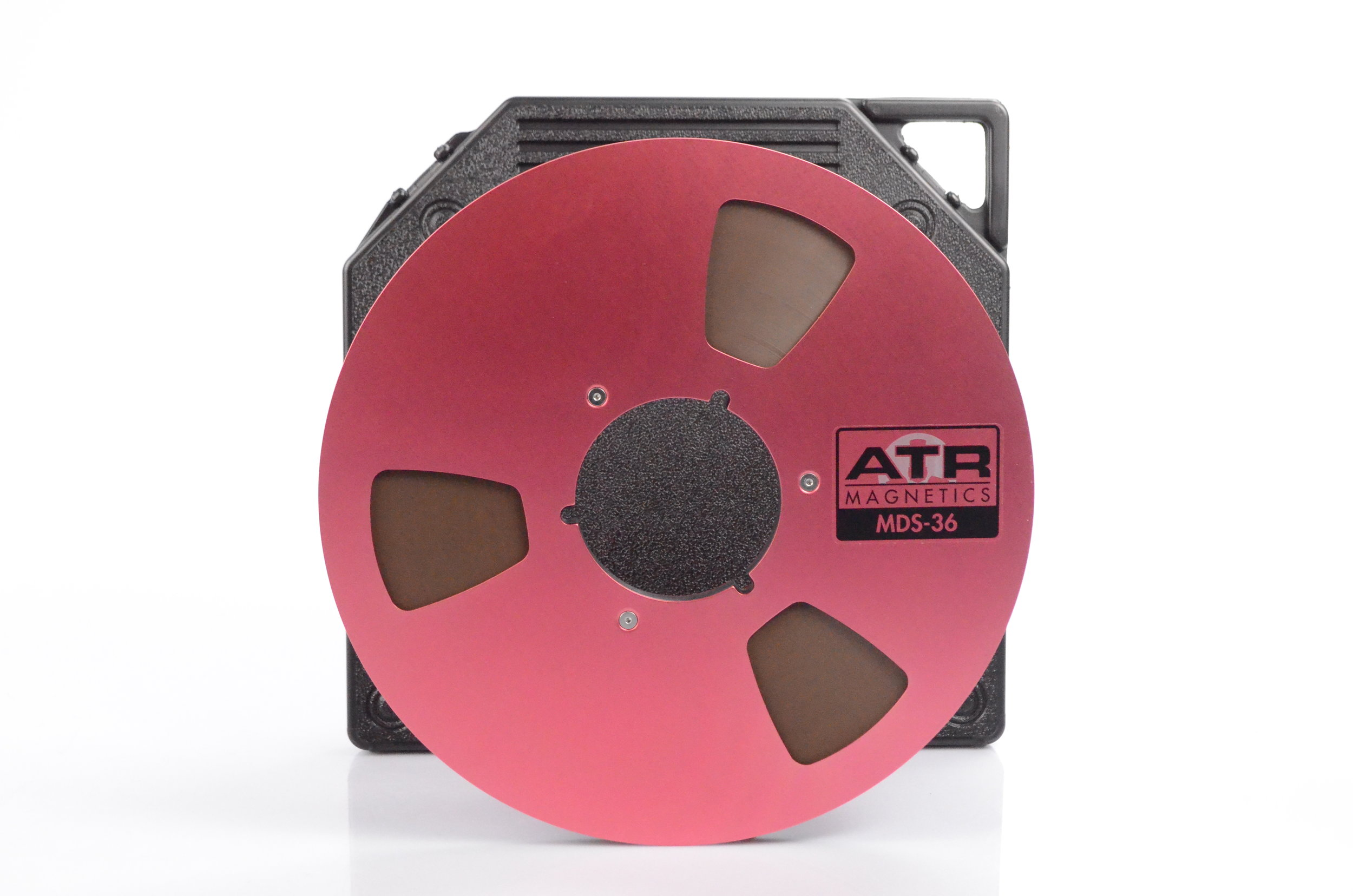 ATR MDR36 reel to reel long playing recording tape on red reels